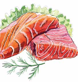 Salmon strengthen cell membranes