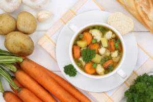 vegetable soup meal