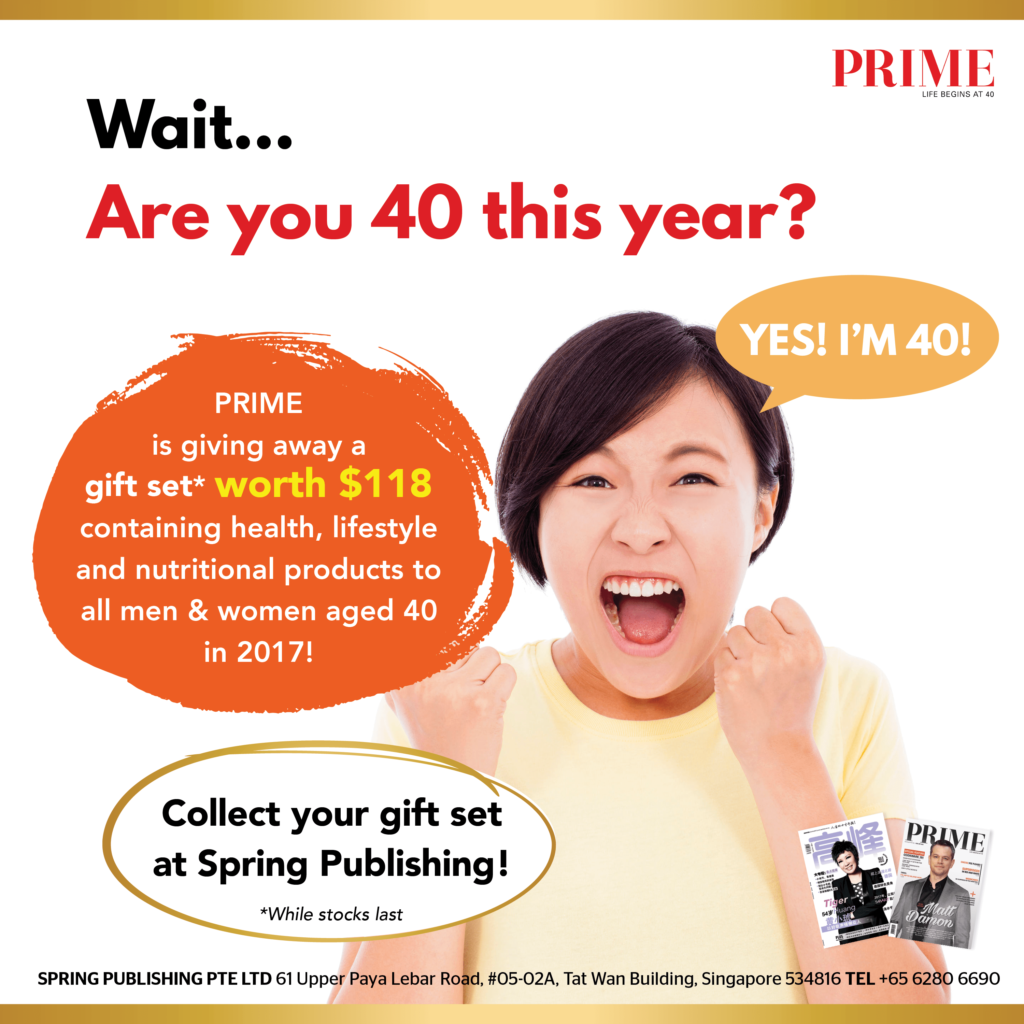Are you 40 this year? Receive a gift set worth $118